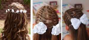как красиво заплести волосы в школу